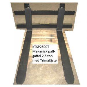 Mekanisk pallgaffel 2,5 ton med Trimafäste kts maskiner